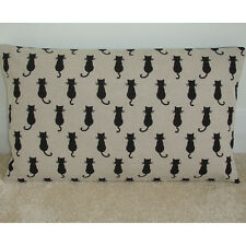 """20""""x12"""" Oblong Bolster  Cushion Cover Black Cats 12x20 NEW 20x12 Rectangle"""