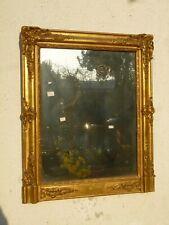 Antica Piccola Specchiera Caminiera Impero Dorata FOGLIA ORO cm 88x73 n29  '800