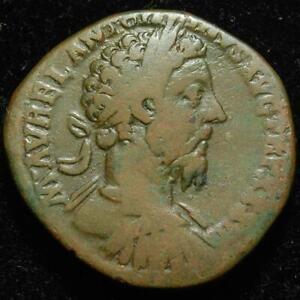 Marcus Aurelius AE sestertius, rev. Felicitas, Rome mint 179AD - RIC 1239