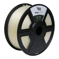 Clear PLA 1.75mm WYZworks 3D Printer Premium Filament 1kg/2.2lb
