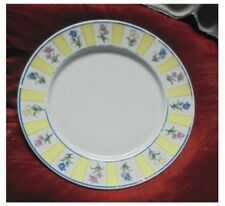 5 x STUDIO CONCEPT DINNER PLATES 27cms ULTRA FINE PORCELAIN WARE - TULIP PATTERN