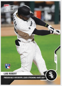 2020 MLB Topps Now Card Of The Month August Luis Robert RC Chicago White Sox