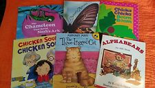 Picture Books (Lot 6 PB) Chicken Soup, The Three-Legged Cat, Alphabears