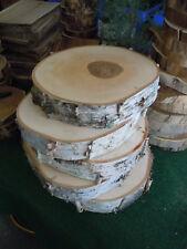"""2Pc 11""""- 12"""" X 2"""" Thick Birch Wood Slice Round Disk Wedding Centerpiece Coaster"""