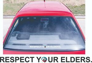 RESPECT YOUR ELDERS for BMW Side Screen decals  Old Logo M3 M5 M8 e30 e36 e81