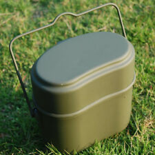 Soldier Military Lunch Box Canteen Kettle Pot Food Bowl German Bivouac Mess Kit