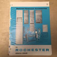 Rochester Germicide Co Brochure~Restroom Accessories Tampon Trade Catalog 1963