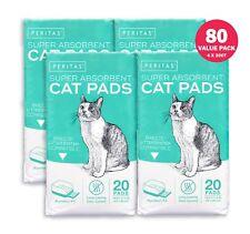 "80ct Cat Pads for Breeze Tidy Cat Litter System 16.9x11""  Peritas Generic Refill"
