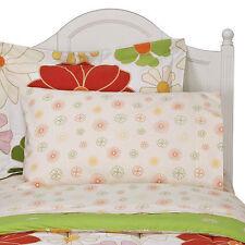 5pc Circo Bloom Full Sheet Set - Floral Daisies Girls Sham Bedding Orange Pink