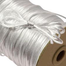 White 2mm Nylon SATIN CORD RatTail Rat Tail Crafts / Kumihimo Braiding 100yd