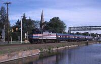 AMTRAK Railroad Locomotive 226 Train Windsor CT Original Photo Slide
