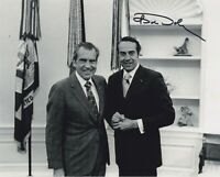 BOB DOLE SIGNED AUTOGRAPH   8X10 PHOTO  WITH RICHARD NIXON  POTUS US SENATE