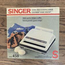 Singer Vintage Cool Touch Waffle Maker Model 450