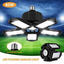 80W 20000Lm Led Garage Light Super Bright Shop Ceiling Lights Bulbs Deformable