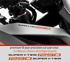 SUPER V TWIN 1290 Decal Sticker premium 10 year Vinyl FIT KTM R SUPERDUKE GT 3