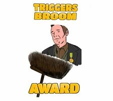 Novelty/Funny 'Triggers Broom' Car Sticker/Decal, Rust, Rat Style
