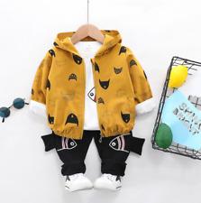 ropa bebé niño chaqueta + camiseta + pantalón dibujos patito pez conjunto otoño