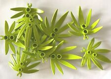 NEW 10 Pieces Lego Plant Leaves SWORDLEAF with OPEN O CLIP 6x5 10884 LIME GREEN