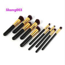 10Pcs Soft Cosmetic Makeup Brushes Set Powder Foundation Contour Lip Blush Tools