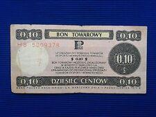 Poland - Bon towarowy Pekao 0,10$