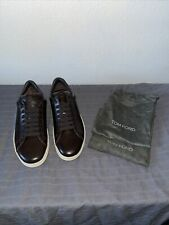 Tom Ford Leather 10UK-11 US Russel Brown Low-Top Sneakers
