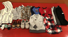 Lot Of 18 Month Boy Clothes Pants Long Sleeve Sweater Shoes Winter 23 Piece Baby