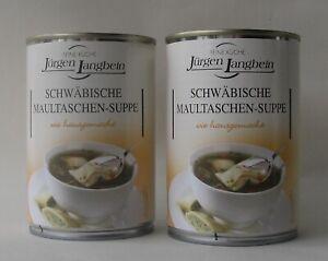 ( 0,93€/100ml ) 800ml. (2x400ml) Jürgen Langbein: Schwäbische Maultaschen Suppe
