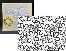 RETRO FLOWERS embossing folder COUTURE CREATIONS embossing folders flowers,daisy