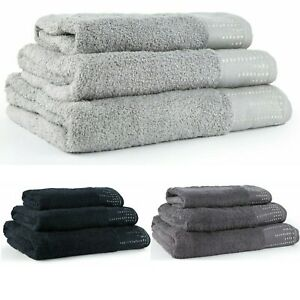 Luxury towels 100% cotton super soft fluffy hand bath towel sheet sparkle border