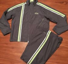 Gray NIKE Size Large Track Suit Windbreaker Striped Running Jogging