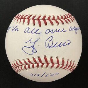 Yogi Berra Signed Baseball Selig Yankees Auto Deja Vu Over Again Inscription JSA