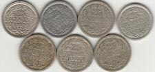 Niederlande.7 x 25 Cents 1914 - 1919.!!#31