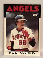 1986 Topps Tiffany Rod Carew baseball card California Angels NrMt-Mint  #400 HOF
