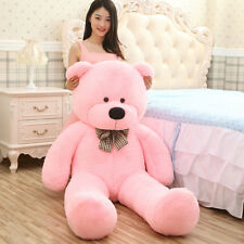 "Giant Teddy Bear Big Soft Plush Stuffed Animals Toy Girls Birthday Gift 47"" Pink"