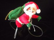 Annalee Pedaling Presents Santa Limited Edition Of 5000 1998