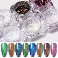 0.1g/Box Chameleon Nail Flakies Mirror Flakes Effect Powder Dust Decoration Tips