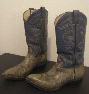 Cowtown Men's Boots Diamondback Rattlesnake Snakeskin Exotic Western 9.5D CLEAN