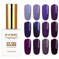 RS Nail Gel Nail Polish UV LED Soak Off Colours 15ml Clearance