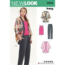 LOOK SEWING PATTERN MISSES' EASY KIMONA JACKET TOP TROUSERS SIZE XS-XL 6546