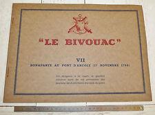 RARE CARTONNAGE LE BIVOUAC PELICAN BLANC 1945 BONAPARTE AU PONT D'ARCOLE