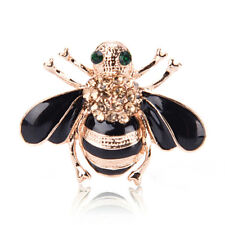 Fashion Bee Brooch Elegant Gold Plated Crystal Rhinestone Party Brooch JewelrRDR