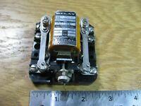 Wheelock Signal Relay C7-Z4 DPST 100VDC Coil Bakelite Base - USED Vintage Qty 1