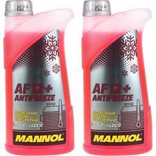 2x1 Liter MANNOL Kühlerfrostschutz Antifreeze AF 12+ Frostschutz -40°C rot rosa