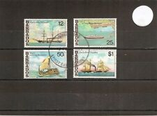 """Barbados 1979 SG613-6 4v NH/Used Ships-""""Forth""""/QE2/""""Ra II""""/Early Mail Steamer"""