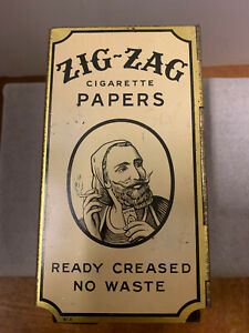 ANTIQUE ZIG-ZAG CIGARETTE PAPERS TIN STORE DISPENSER