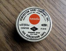 VINTAGE REMINGTON ARMS CO PERCUSSION CAP TIN - EMPTY