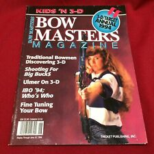 1994 Bow Masters Magazine 3-D Target Annual~Archery, Bow & Arrow Hunting
