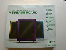 Green Light LED Message Business Board Sign w 5 Functions & 6 Flourecent Markers