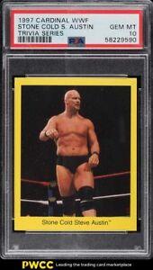 1997 Cardinal WWF Wrestling Trivia Stone Cold Steve Austin PSA 10 GEM MINT