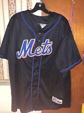 New York Mets MLB Majestic Baseball Black Edition Jersey 2XL Amens